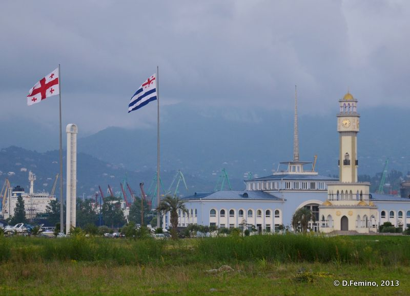 Clouds and flags (Batumi, Georgia, 2013)