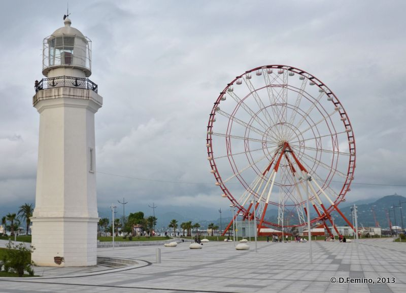 Promenade with ferris wheel (Batumi, Georgia, 2013)
