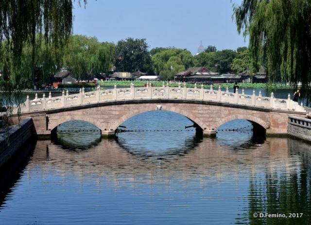 Stone bridge over Qianhai lake (Beijing, China, 2017)
