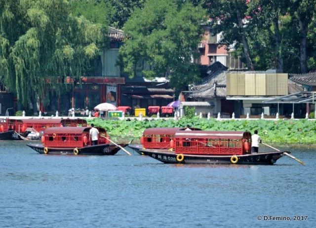 Traditional boats in Qianhai lake (Beijing, China, 2017)