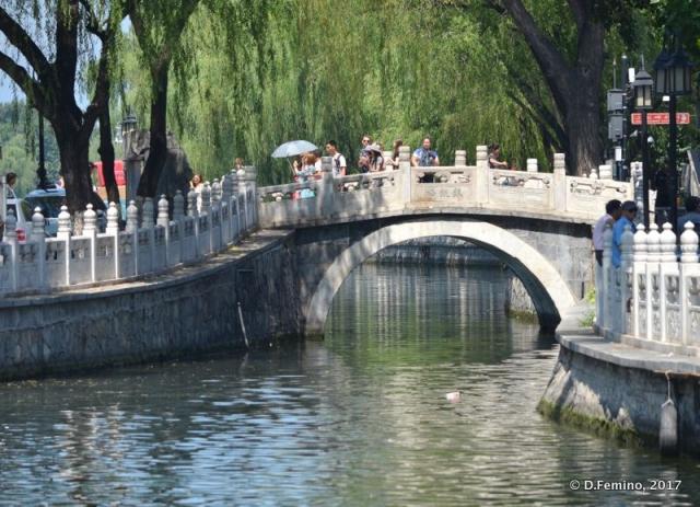 Tourists in Qianhai park (Beijing, China, 2017)