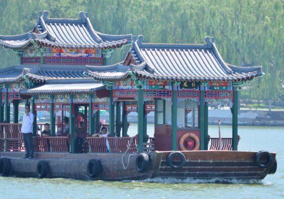Boat on Beihai lake in Beijing