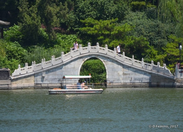 Stone bridge in round city (Beijing, China, 2017)