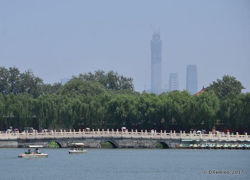 Beijing view from the quietness of Round city (Beijing, China, 2017)