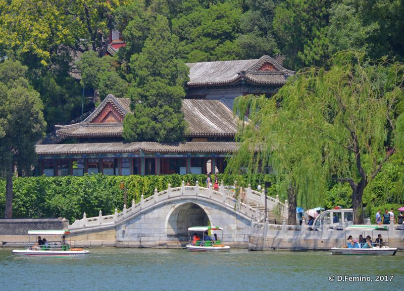 Bridge and pavilions in round city (Beijing, China, 2017)