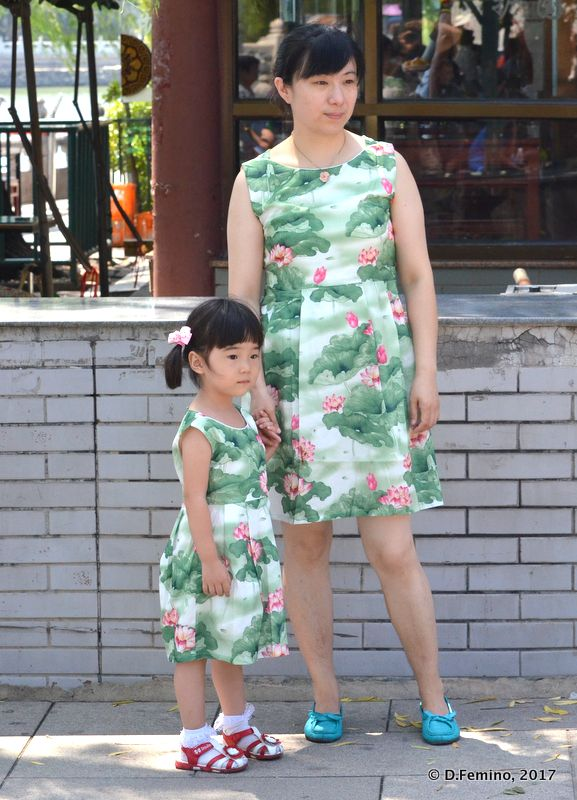 Mom and daughter with same dress (Beijing, China, 2017)
