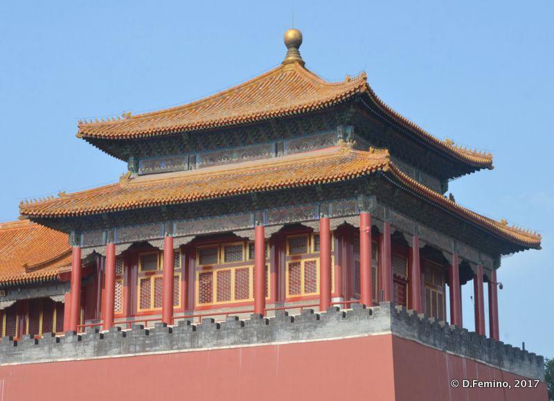 Tower on Tiananmen gate (Beijing, China, 2017)
