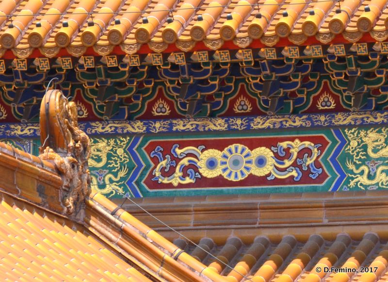 Detail of a hall in forbidden city (Beijing, China, 2017)