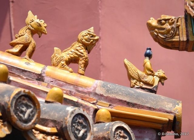 Decoration on a roof of hall of union (Beijing, China, 2017)