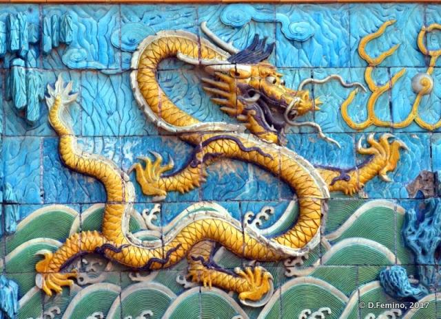 Detail of nine dragons wall (Beijing, China, 2017)