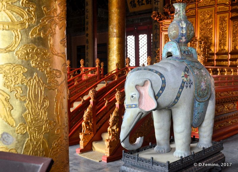 Elephant in the hall of supreme harmony (Beijing, China, 2017)