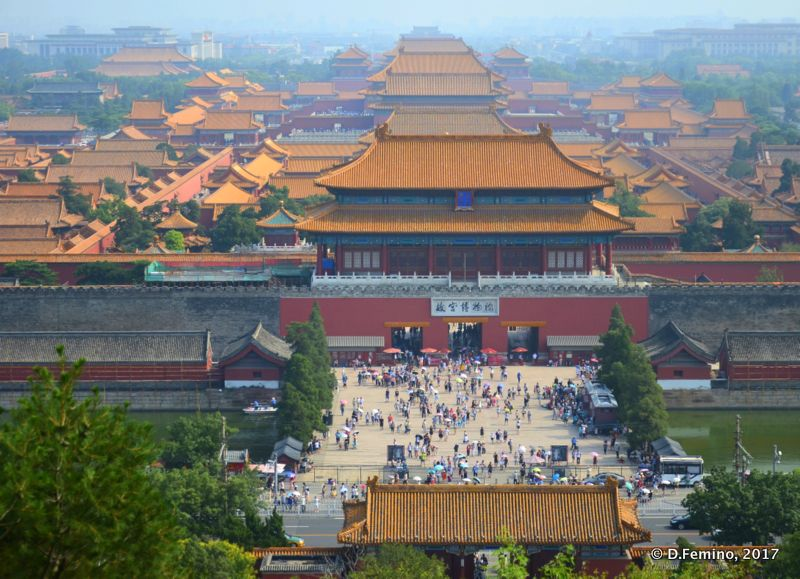 View from above of forbidden city (Beijing, China, 2017)