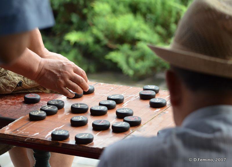 Playing draught (Beijing, China, 2017)