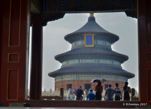 Temple of Heaven framed (Beijing, China, 2017)