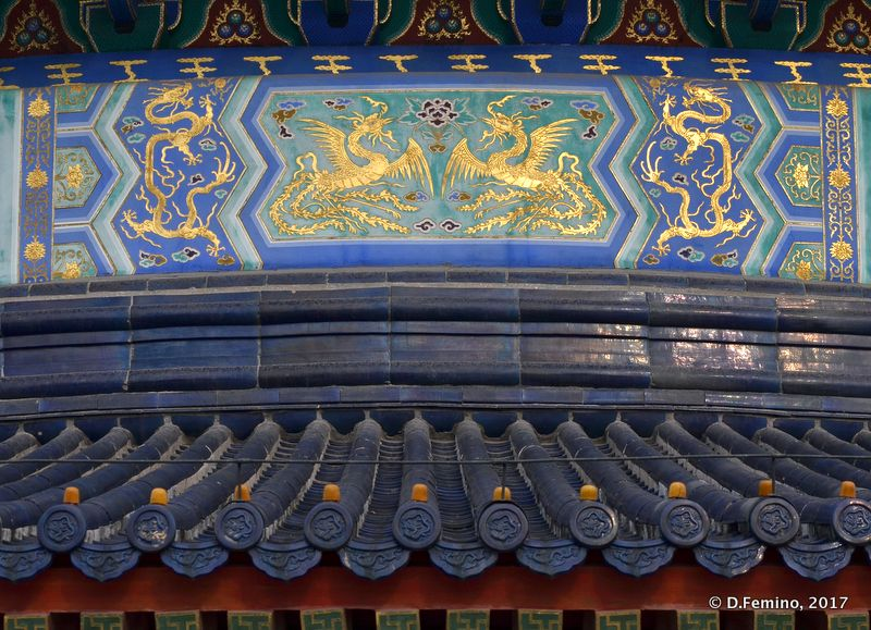 Detail of temple of Heaven (Beijing, China, 2017)