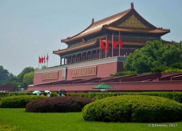 Side view of Tiananmen gate (Beijing, China, 2017)
