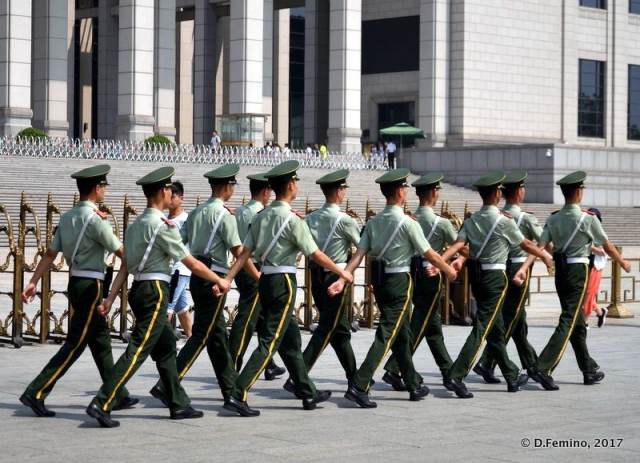 Soldiers in Tiananmen square (Beijing, China, 2017)