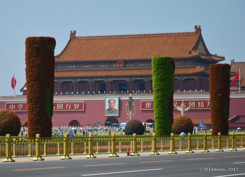 Tiananmen gate and Mao Zedong portrait (Beijing, China, 2017)