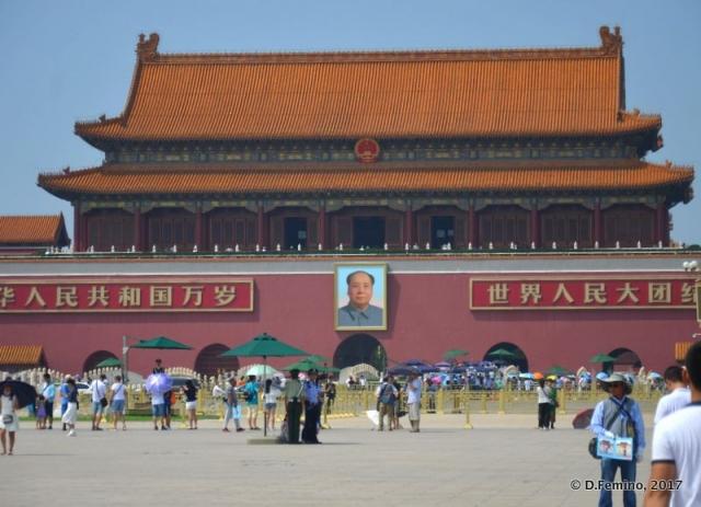 Iconic view of Tiananmen gate (Beijing, China, 2017)