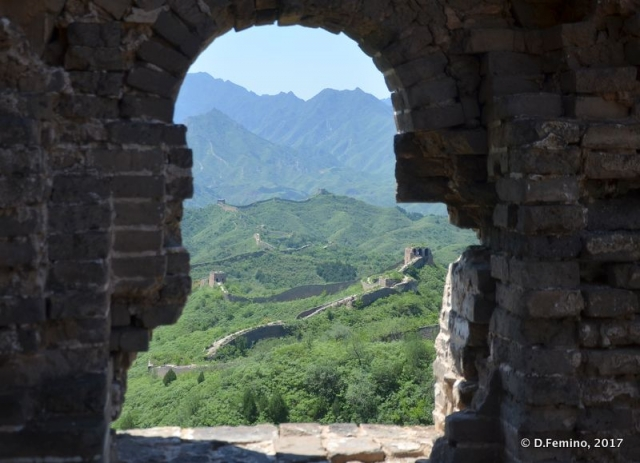 Chinese walls view from a tower (China, 2017)
