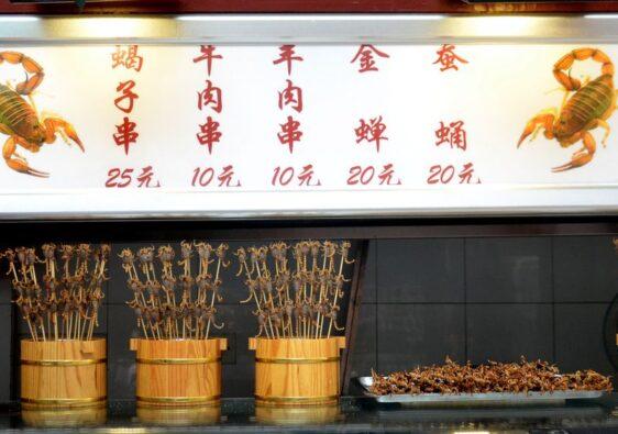 Scorpion snack stall in Wangfujing market