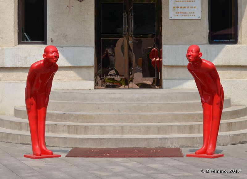 Red mannequins (Tianjin, China, 2017)