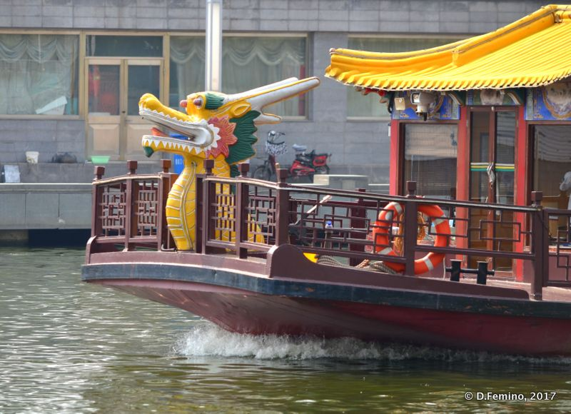 Boat for tourists (Tianjin, China, 2017)