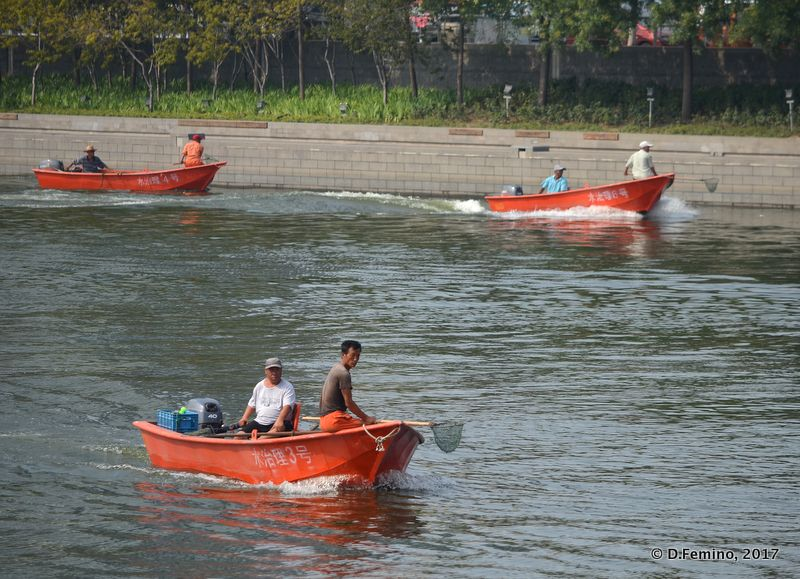 Cleaning the river (Tianjin, China, 2017)