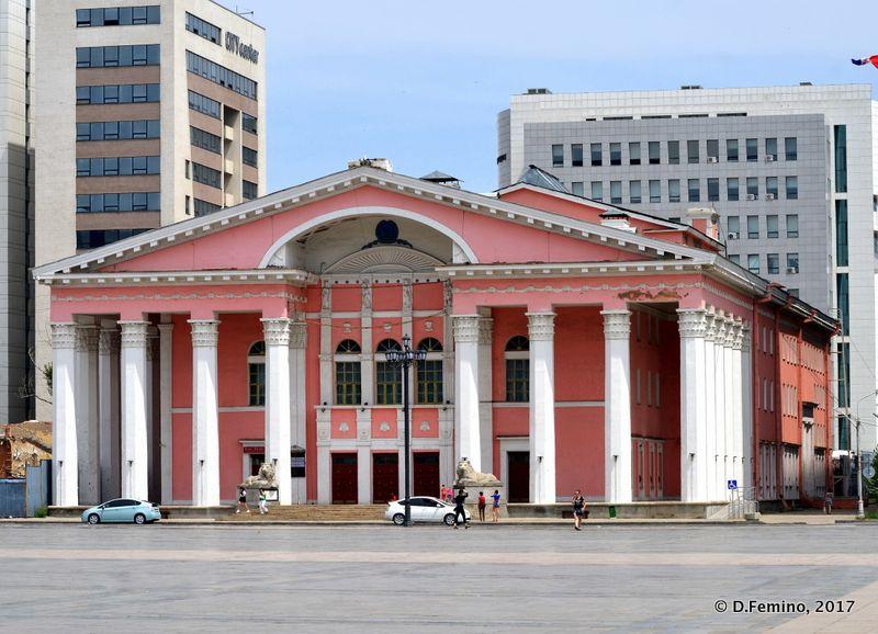 State opera theatre (Ulaanbaatar, Mongolia, 2017)