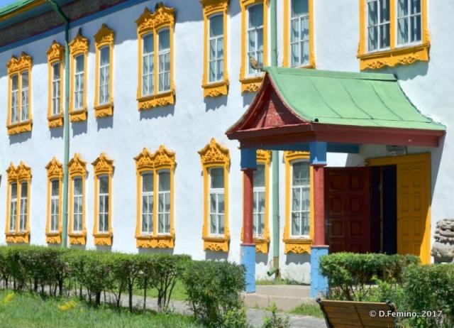 Nice building in Bogd Khan museum (Ulaanbaatar, Mongolia, 2017)
