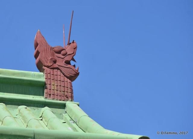 Dragon head on a roof (Ulaanbaatar, Mongolia, 2017)