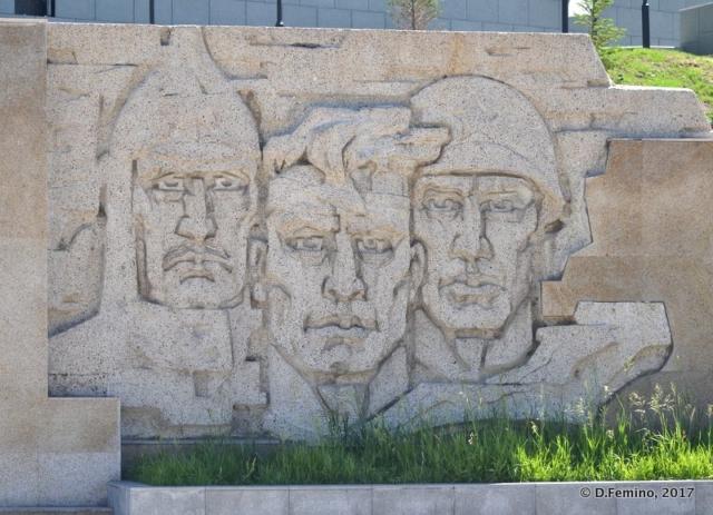 Soviet style bas-relief (Ulaanbaatar, Mongolia, 2017)