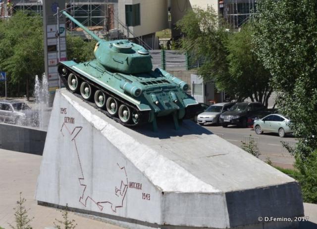 Tank of Mongolian-Russian friendship (Ulaanbaatar, Mongolia, 2017)
