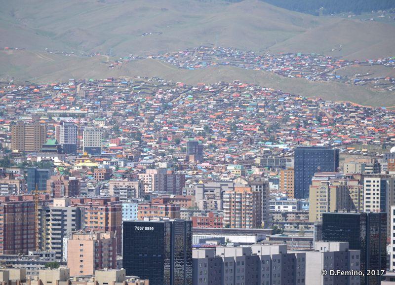 View of the town from Zaisan memorial (Ulaanbaatar, Mongolia, 2017)
