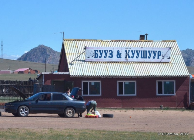 Local food on the road (Terelj Park, Mongolia, 2017)