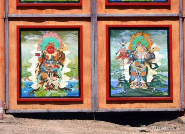 Wooden panels (Aryaval Monastery, Mongolia, 2017)