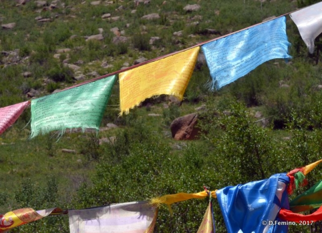Colourful flags (Aryaval Monastery, Mongolia, 2017)