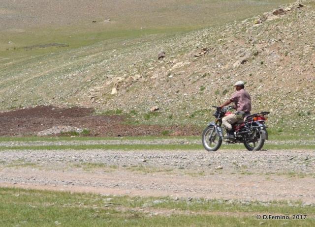 A ride on the motorbike (Terelj Park, Mongolia, 2017)