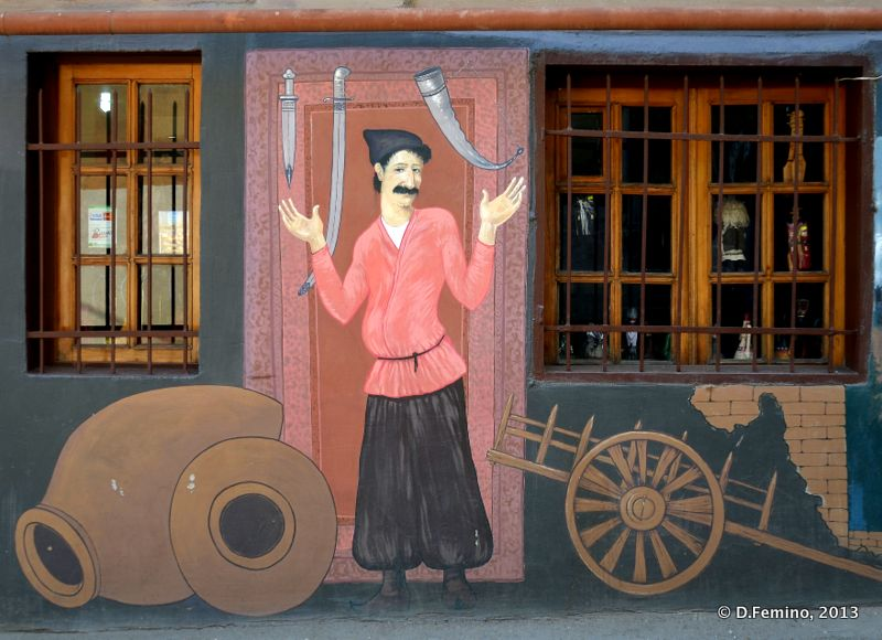 Murales outside a restaurant (Tbilisi, Georgia, 2013)