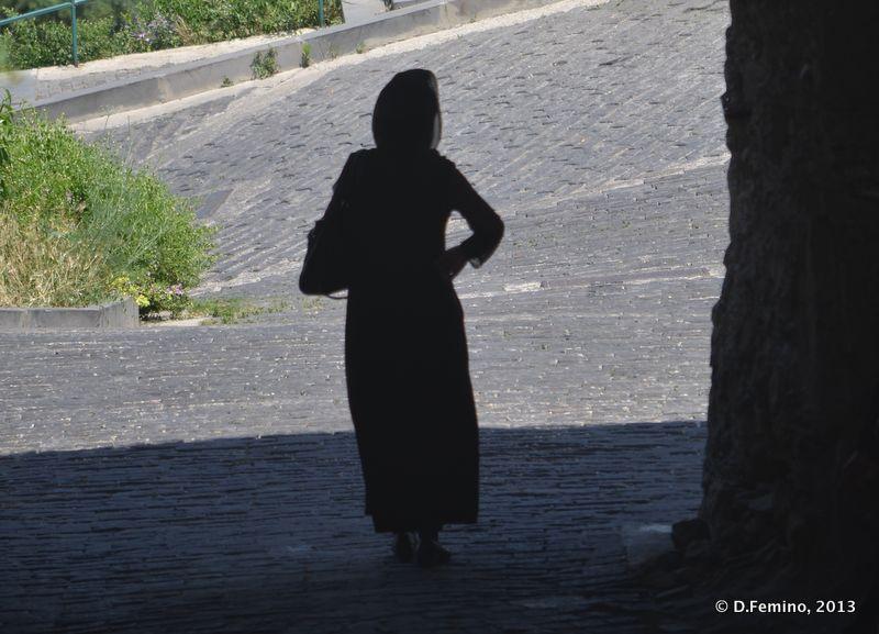 Woman silhouette (Tbilisi, Georgia, 2013)