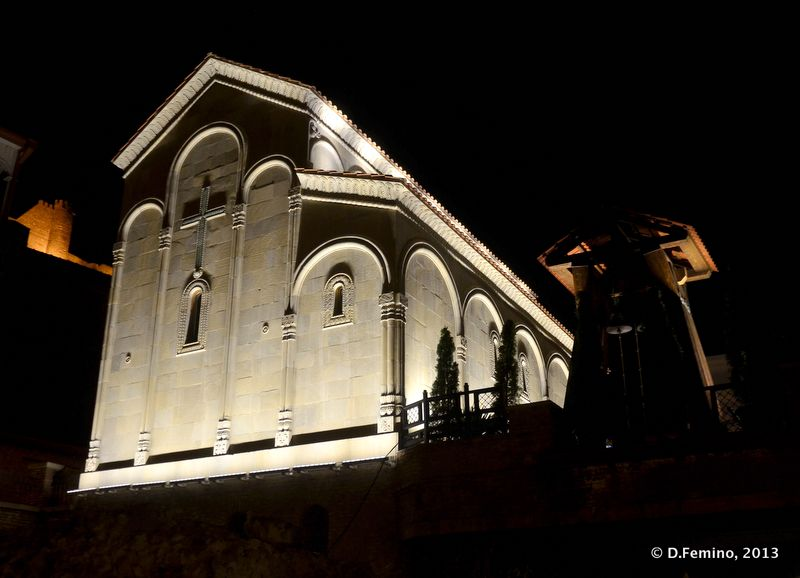 Cathedral at night (Tbilisi, Georgia, 2013)