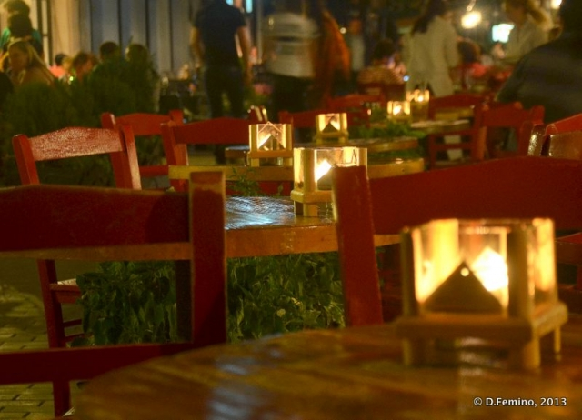 Candles on restaurant tables (Tbilisi, Georgia, 2013)