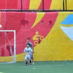 Children playing football in Tbilisi