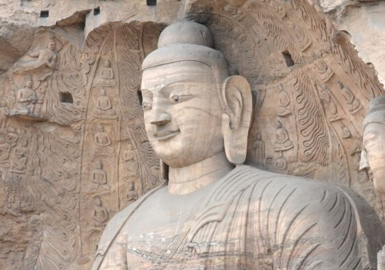 Big Buddha statue in Yungang Grottoes