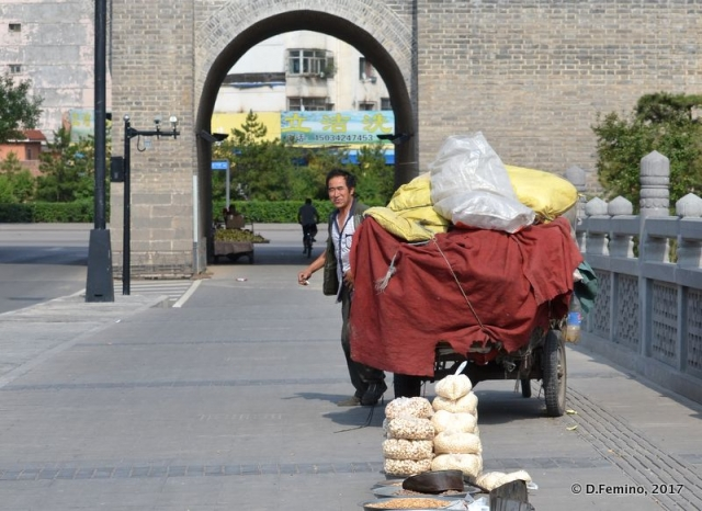 Seed seller in the old town (Datong, China, 2017)