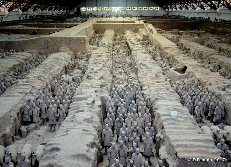 Pit one of terracotta warriors (Xian, China, 2017)