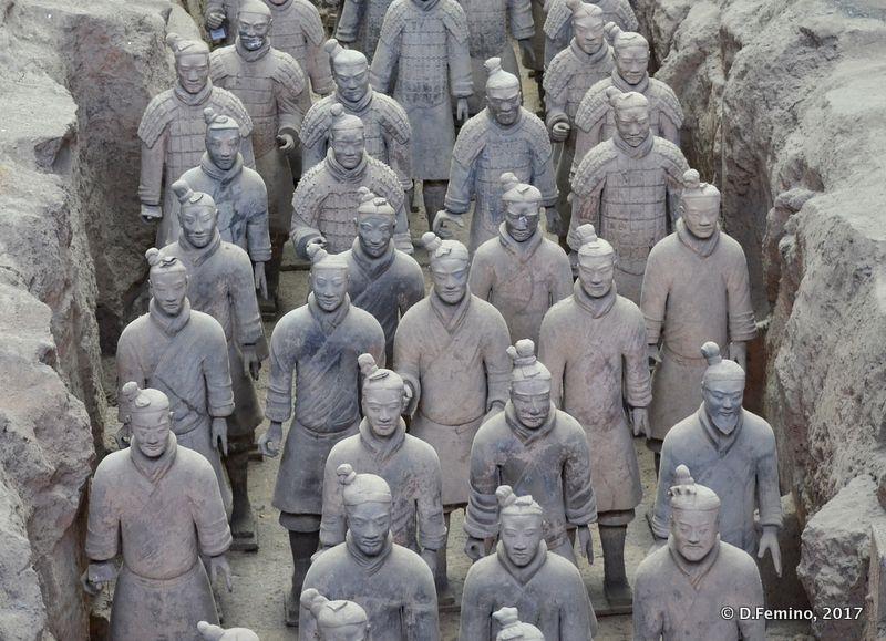 An army of warriors (Xian, China, 2017)