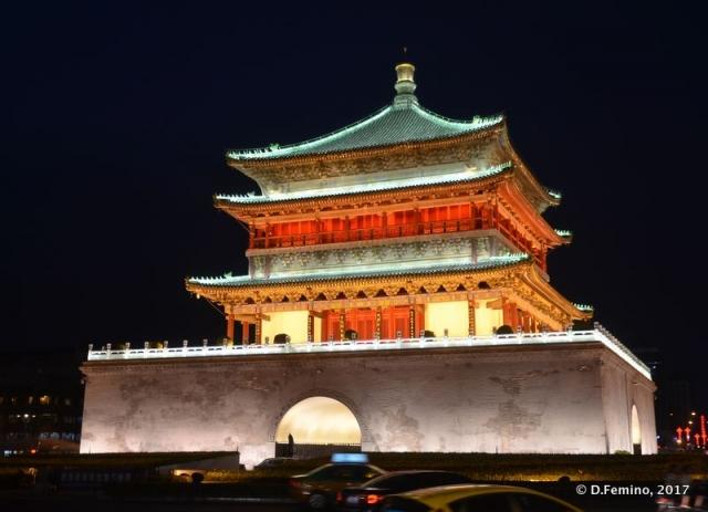 Bell tower at night (Xi'an, China, 2017)