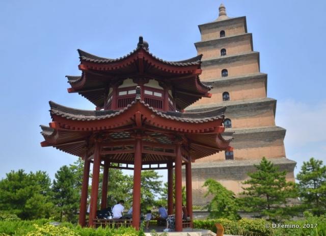 Giant wild goose pagoda (Xi'an, China, 2017)