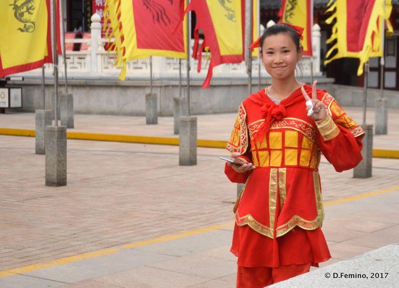 Tourist guide (Xi'an, China, 2017)